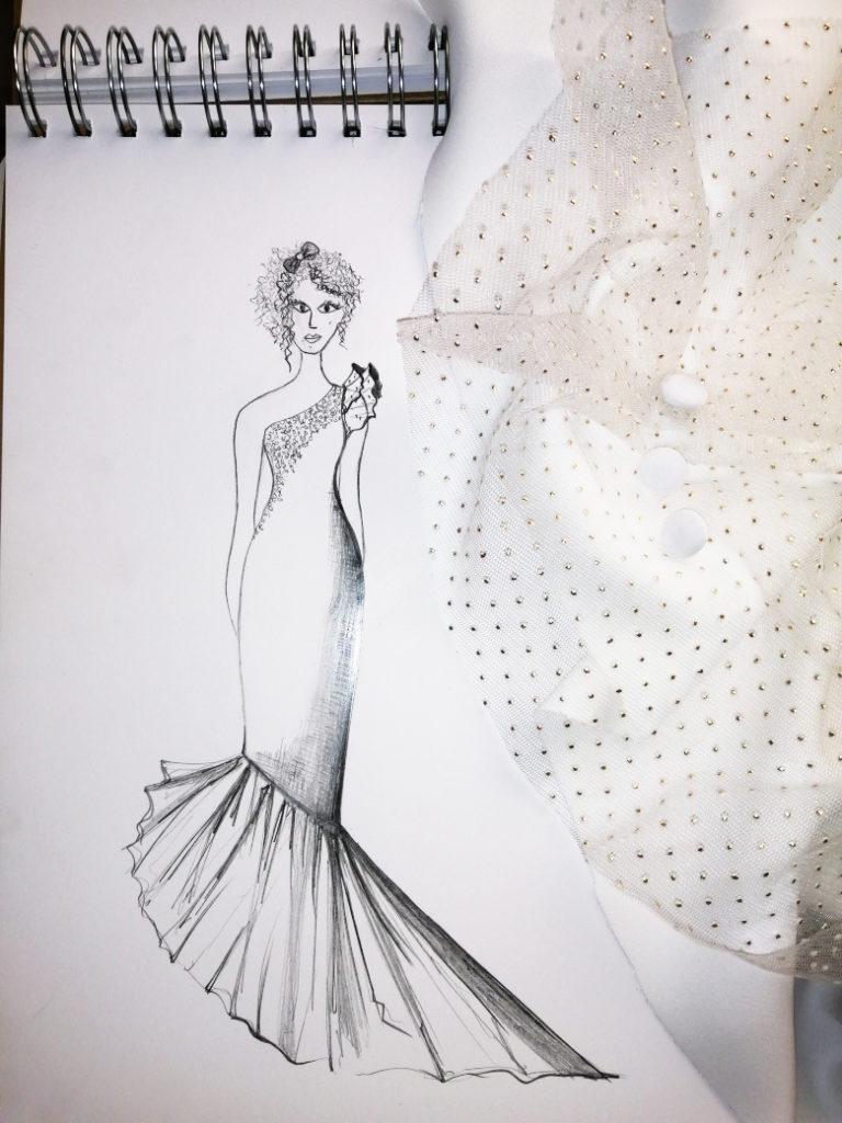 vestido de novia medida flamenco