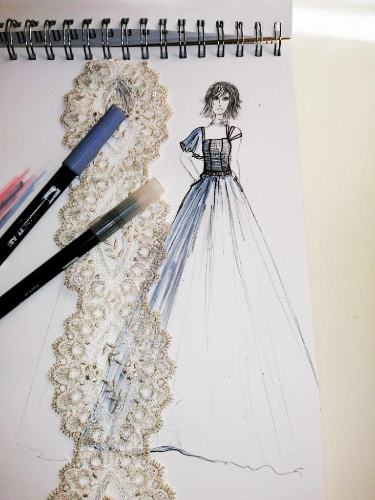 vestido de novia romantico madrid