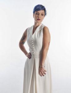 traje de novia estilo camisero medida madrid