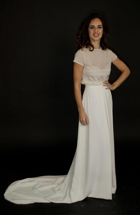 vestido blanco con cola para boda