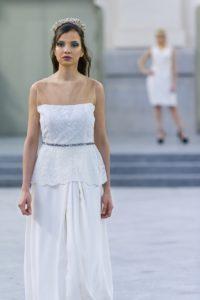 vestido de novia elegante blanco madrid