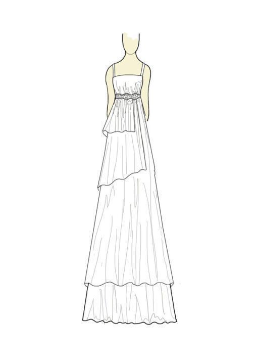 vestido de novia ibicenca dibujo