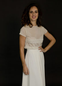traje de novia a medida con encaje