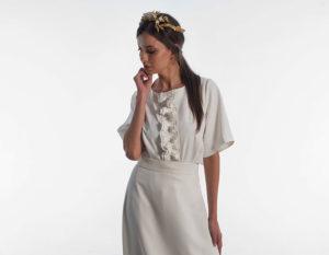 blusa de novia estilo romantico