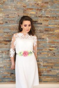 vestido sencillo boda civil
