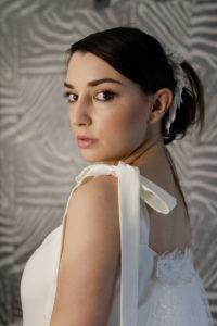 vestido de novia y peinado