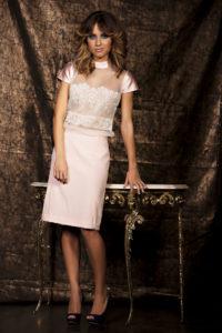 vestidos de novia corto rosa