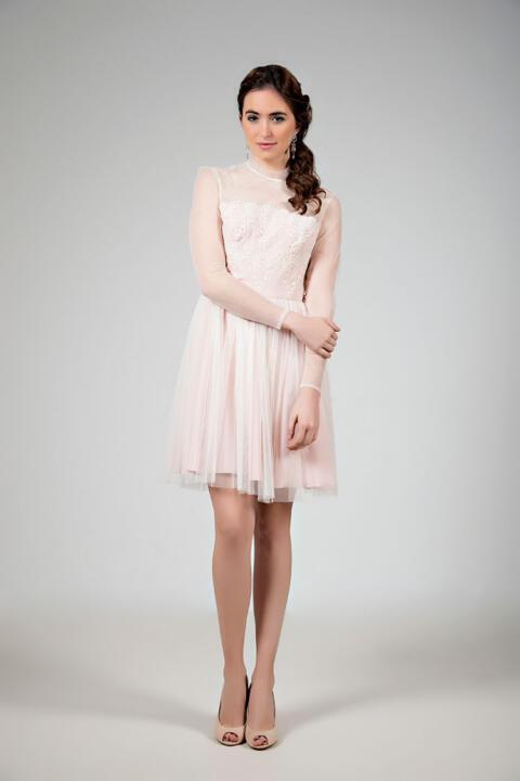 vestido de novia corto tul