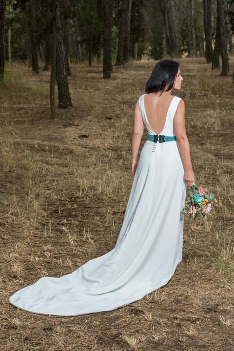 vestido de novia elegante en madrid