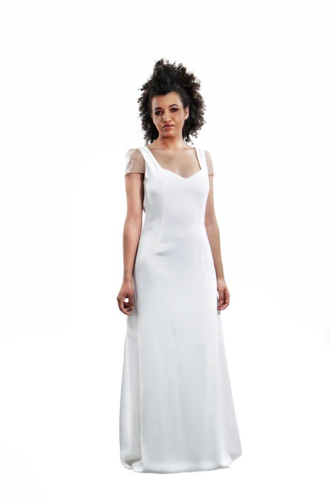 vestido de novia elegante con encaje