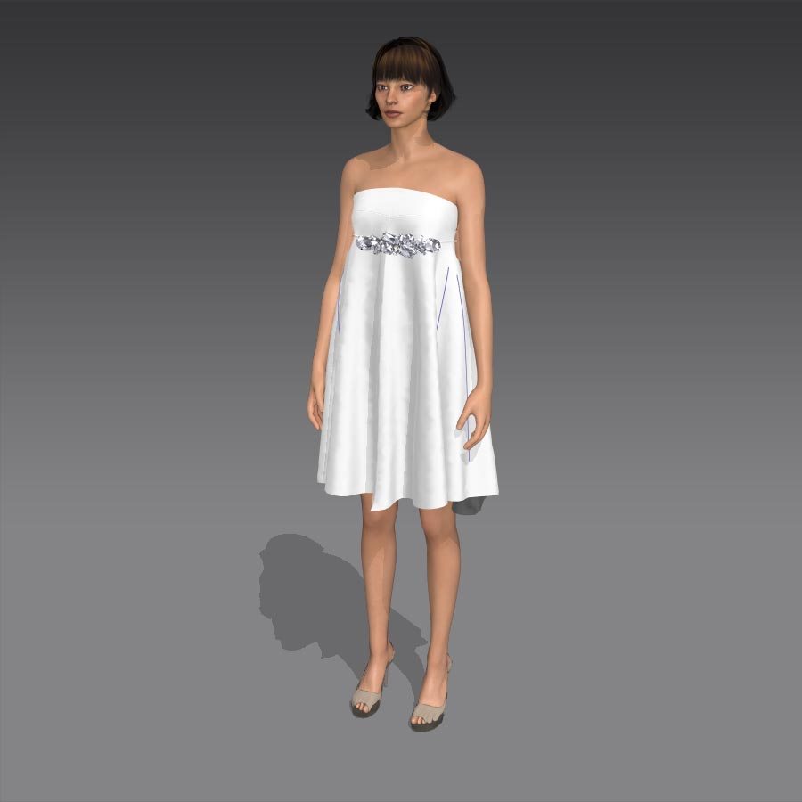 Vestidos de novias cortos ibicenco