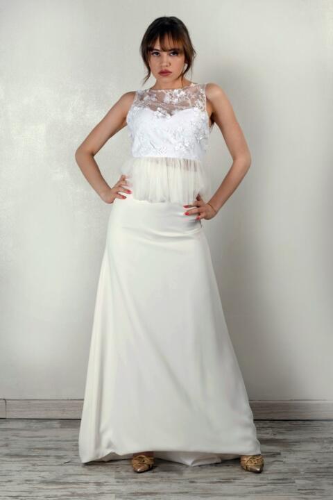vestido de novia elegante a medida