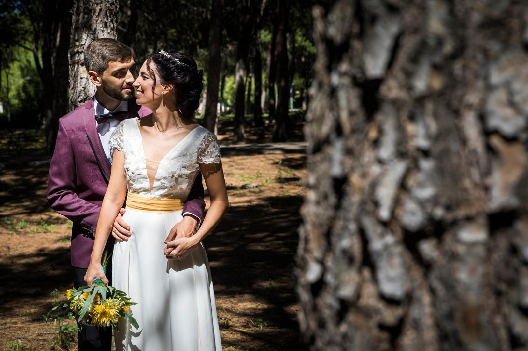 vestido de novia madrid Maribel con encaje