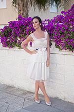 vestido de novia corto ibicenco