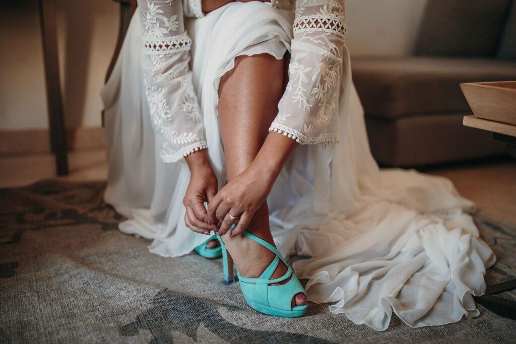 zapatos de novia y vestidos