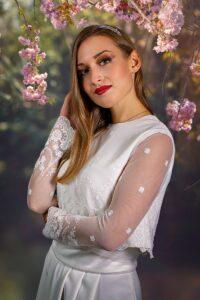 Vestido de novia de invierno