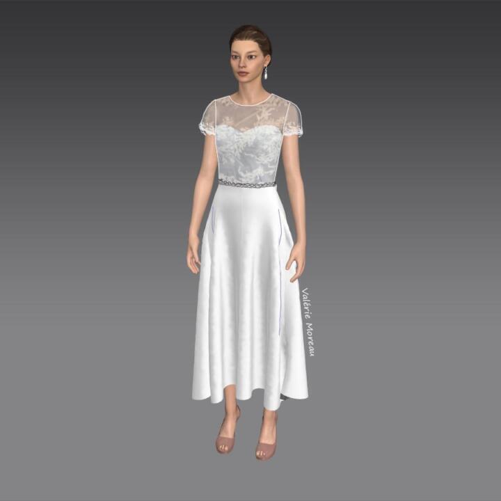 vestido d enovia corto para boda civil madrid