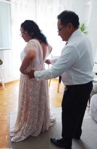 vestido de novia de encaje madrid