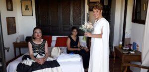 traje de novia con capa madrid